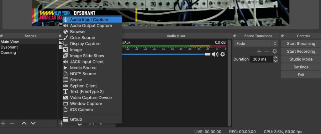 select audio source
