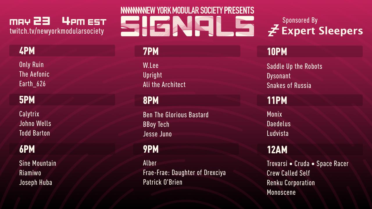 NYMS Signals Schedule